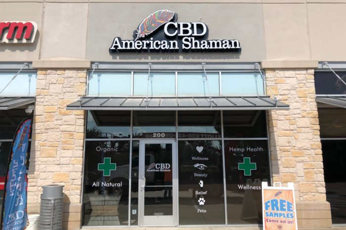 Storefront Channel Letters Logo with Back Lite - CBD - ExtremeSigns